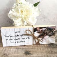 Wooden Personalised Pet Photo Shelf Block
